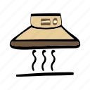 cooker, hood, house, interior, kitchen icon
