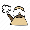 kettle, kitchen, pot, tea icon