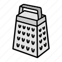 cooking, grater, kitchen icon