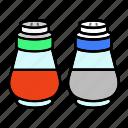 pepper, salt, shaker, spice icon