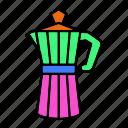 coffee, moka, pot, turks icon