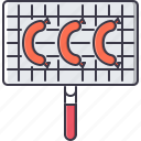 chef, cook, cooking, grid, grill, kitchen, sausage icon