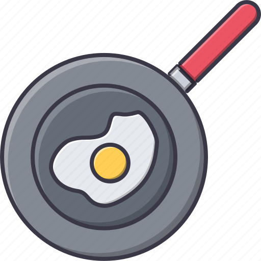 cook, cooking, egg, fried, frying, kitchen, pan icon