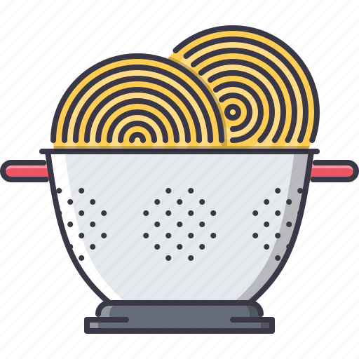 chef, colander, cook, cooking, kitchen, pasta icon