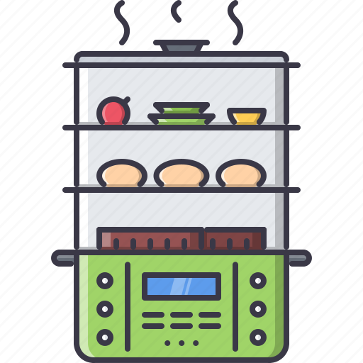 chef, cook, cooking, kitchen, steamer icon