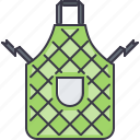 apron, chef, cook, cooking, kitchen, pocket icon
