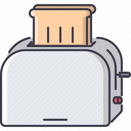 bread, chef, cook, cooking, kitchen, toast, toaster icon