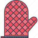 chef, cook, cooking, kitchen, mitten, protection icon