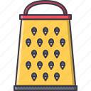 chef, cook, cooking, grater, kitchen, protection icon