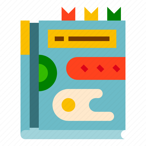 book, cooking, food, guide, recipe icon