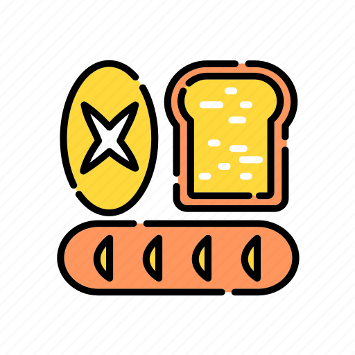 bread, breakfast, dough, food, kitchen, loaf, sidedish icon