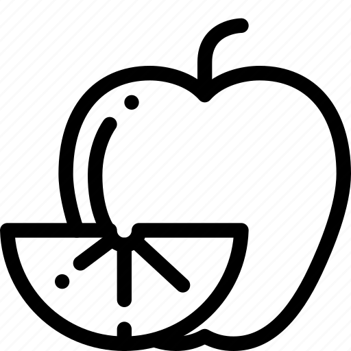 apple, fruits, lime, mix icon
