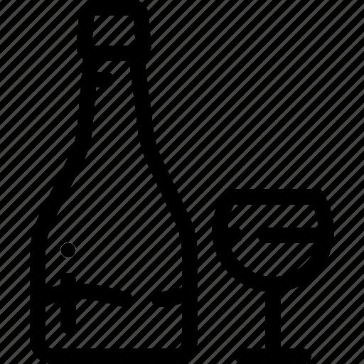 dinner, glass, romantic, vine icon