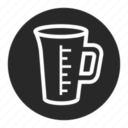 beaker, cup, kitchen, recipe, scale, water icon