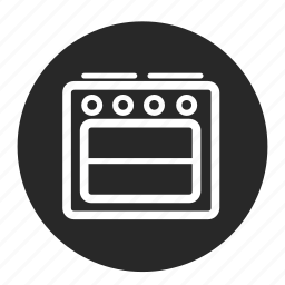 baking, cooker, fire, kitchen, oven, roasting icon