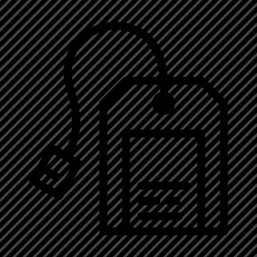 kitchen, label, line, tea bag, ui, web icon