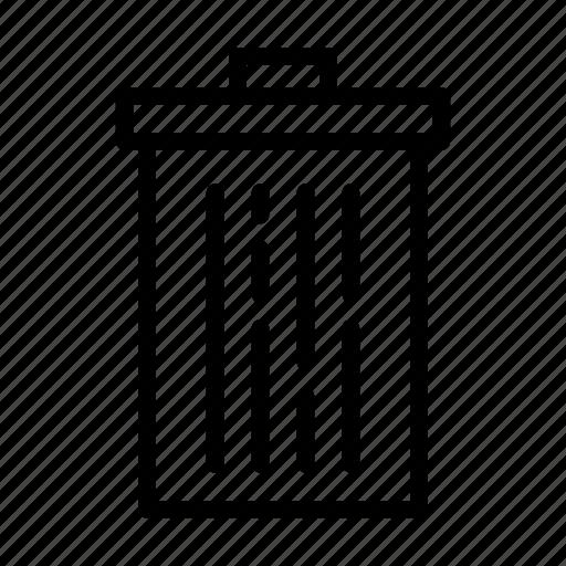 kitchen, line, trash can, ui, web icon