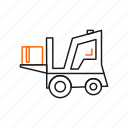 forklift, lifter, truck icon