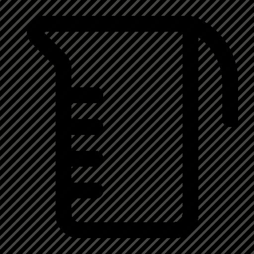 cup, measuring, measuring cup, meter icon