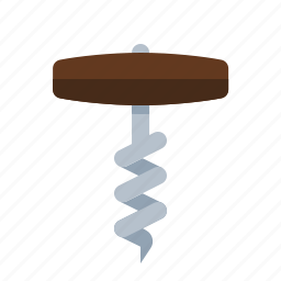cook, cork screw, food, kitchen, meal, wine icon