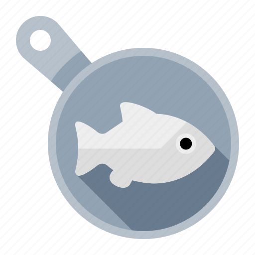 cook, fish, food, fry, frying pan, kitchen, meal icon