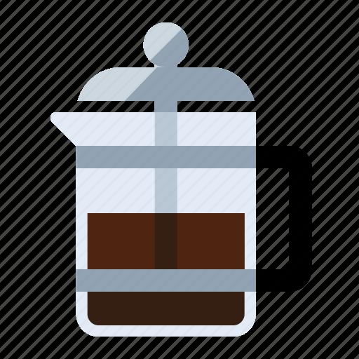 coffee, espresso, food, french press, kitchen, latte icon