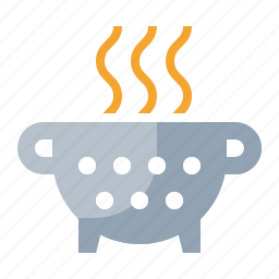 cook, food, kitchen, meal, noodle, spaghetti, strainer icon