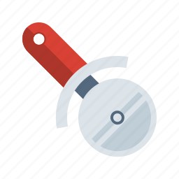 cook, food, kitchen, meal, pizza, pizza cutter icon