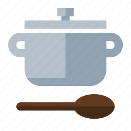 boil, cook, food, kitchen, pot, spoon, stew icon
