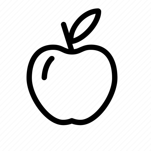 apple, fruit, kitchen icon