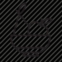 basket, fruit, kitchen, plate icon