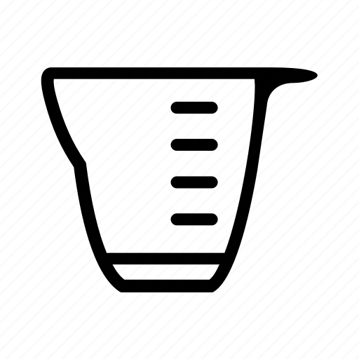 cup, glass, kitchen, measureing glass, measurement cup icon