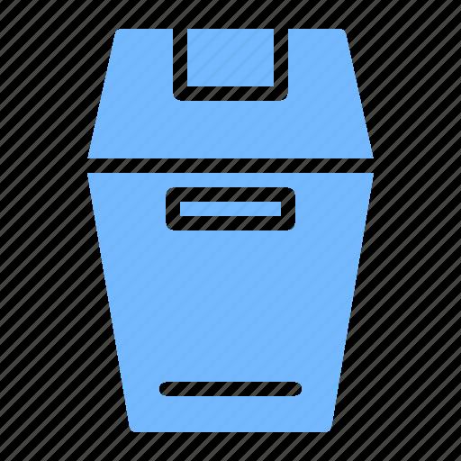 kitchen, restaurant, trash can, utensil icon
