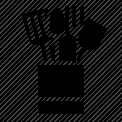 holder, kitchen, kitchenware, spoon, utensil icon