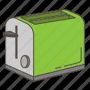 appliance, bread, cooking, kitchen, roaster