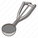 appliance, cooking, ice cream, kitchen, scoop icon