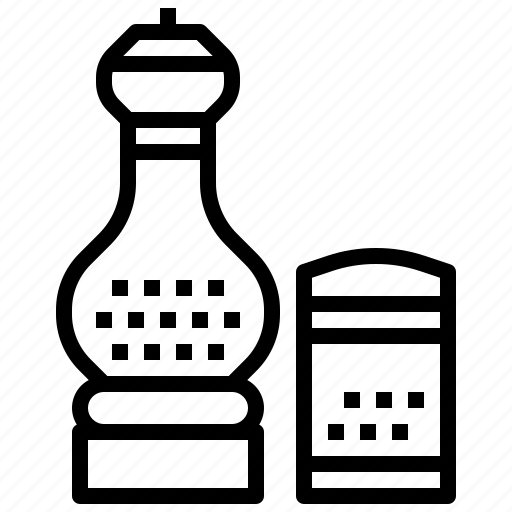 condiment, cooking, salt, shaker icon