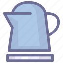 kitchen, teapot, water icon