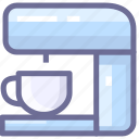 coffee, coffee machine, kitchen icon