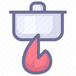 cooking, fire, kitchen icon