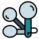 cooking, kitchen, measuring, spoon, spoons icon