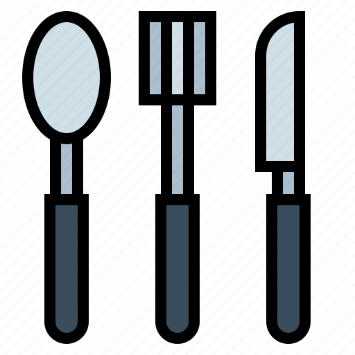 cutlery, fork, knife, spoon icon