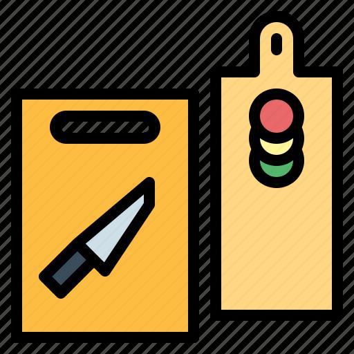 board, cutting, kitchen, kitchenware icon