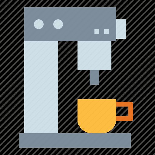 coffee, drink, hot, machine, shop icon