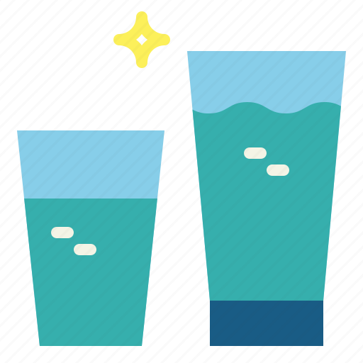 drink, glass, of, soda, water icon