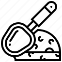 cheese, equipment, handle, sharp, slicer icon