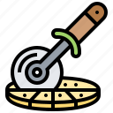 blade, cutter, pizza, utensil, wheel