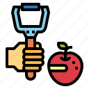 fruit, hand, kitchenware, peeler