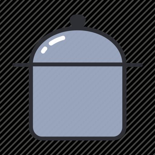 boil, filled, kitchen, pan, set, stewpan icon