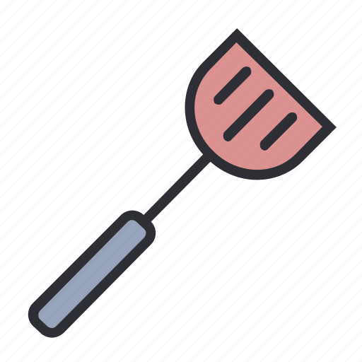 filled, fry, kitchen, set, spatula icon